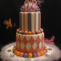 In The Spirit Of Fancy Nancy I made this cake for a client of mine to take to the expos that she is doing this summer. She has added my cakes to her party packages, and...