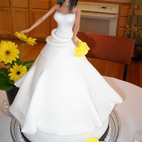 Bridal Shower Cake (My 8Th Cake) Im making my sisters wedding cake so the bottom looks like what her cake should look like. The barbie looks almost identical to what my...