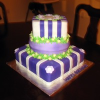 Happy Birthday Jalia-Dream Chocolate w/ chocolate frosting inside and fondant on the outside!