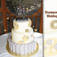 "Cakery's Steampunk Wedding Wedding cake for two ""Steampunkers"""