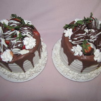 Chocolate Covered Strawberry And Chocolate Covered Oreo Cake