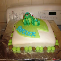 Frog Baby Shower Cake I don't like this cake.