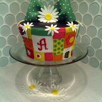 Patchwork And Daisies Small cake made to practice carving. Thanks for looking.