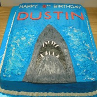 It Was A Jaws Of A Birthday!   Childs 8th Bday cake
