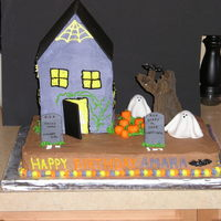 Haunted House Birthday Haunted House cake