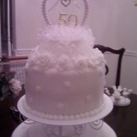 My First Wedding Cake 2 tiered wedding cake with fondant