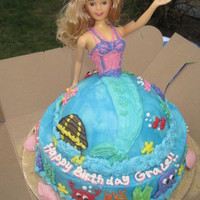 Mermaid Cake I found the idea for this cake from a bakery called Concord Teacakes. The birthday girl saw their cake, and wanted me to change the dome to...