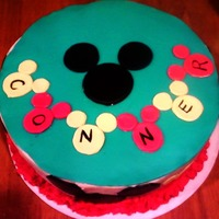 "Mickey Mouse Cake This cake was the biggest pain in my neck! Don't know why, it was simple enough. I guess I just had one of those ""can't get..."