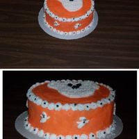 Ghost Cake Orange My second cake for Fall Carnivals on friday