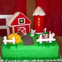 Barn Yard Cake Barn yard cake for my grandson's first birthday. Lots of fun to make and the kids loved it.