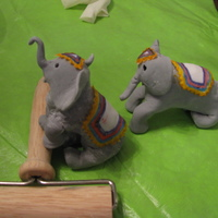 Elephants These are made of fondant they where for cakes I made for works Family Day