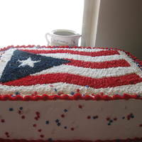 Puerto Rico Flag Cake   WHIPPED CREAM AND BUTTERCREAM