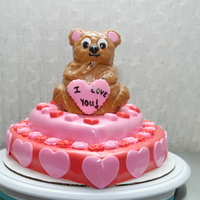 Beary Valentine's Cake A Valentine's Bear cake i made for a friend.