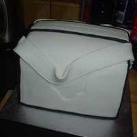 Black And White Purse This is a 4 layer vanilla with vanilla B/C cake for my nephews girlfriends birthdayit was sooooooo stress full as it was only my fourth...