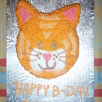 Kitty Cake Red Velvet Cake made to look like a Cat
