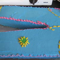 Cake Disaster!  My little sister saw me watching the betty Crocker cake videos, and decided she wanted the groovy jeans cake for her beday. Only, it turned...