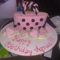 Handbag Cake Made this for my sister- in- law's birthday. I would have liked to make a few more accessories but didn't have time. Took me a...