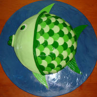 Fish This is my version of the goldfish cake found in the book Party Cakes by Lindy Smith