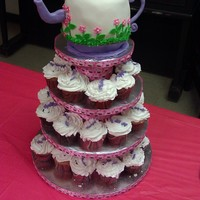 Teapot/with Cupcakes