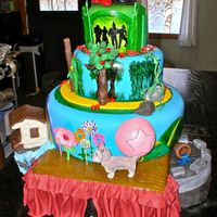 Wizard Of Oz This cake was created for the season closing of the North American tour of the Broadway production of The Wizard of Oz. Because it was for...