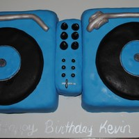 Turntable Birthday Cake I made this for my husband's 25th birthday!