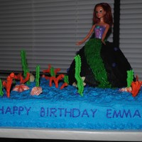 Ariel Birthday Cake This cake was was a little girl's 4th birthday. She loved it!