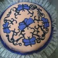 Butterfly Cake Just a fun cake with strawberry MMF. I just had to see how the strawberry marshmallows would work.