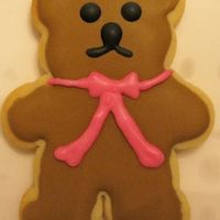 Bear Cookie I made these for the girls in DD's class