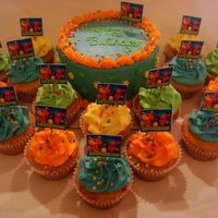 Backyardigans Smash Cake Backyardigans smash cake and cupcakes for my nephews 1st birhtday.