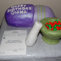 'pill' Cake Custom Pill Cake. Birthday girl was a pharmacist that graduated from FAMU. 'Stainless Steel' table and carved capsule are Vanilla...