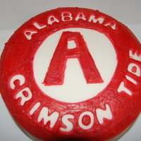 Alabama Roll Tide Chocolate Cake covered in Fondant / Chocolate
