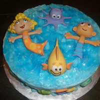 """under The Sea"" Bubble Guppie Cake  I made this bubble guppie cake for a 3 year old's birthday. She loves the bubble guppies. This was my first time making these. It was..."