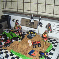 My Nephews Monster Truck Cake