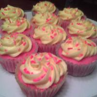 Pink Lemonade Cupcakes Pink lemonade cupcake recipe I found on here with my own lemon buttercream recipe. Added food coloring and sprinkles to make them more...