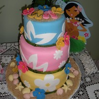 Luau Wedding Cake insired by many other cc cakes and google search cakes! :)