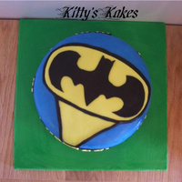 Batman Cake   Batman cake for a 5 year old that loves Batman