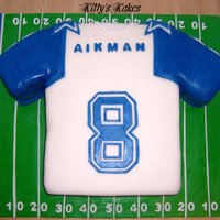 Cowboys Jersey   I'm a HUGE Eagles fan so this was a tough cake to do lol but it turned out to be one of my favs.