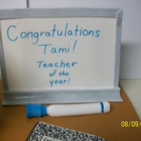 First Day Teacher's Cake