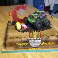 Monster Truck  My grandson asked for a Monster truck cake and this was a challenge because I can't draw. But he recognized it right away, so that&#...