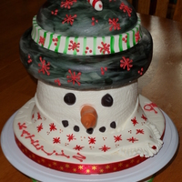 Happy Birthday Katelyn! This was a birthday cake for my daughter's friend. I have found that snowman cakes are very fun to make!
