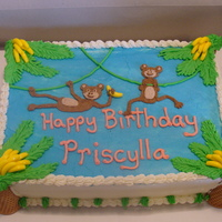 Monkeys A birthday cake for a friend's daughter