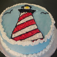 Lighthouse Cake Made this for my son's friend, it was a last minute idea. He loves lighthouses. wasc cake with indebi's icing. I borrowed the...