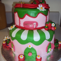Strawberry Shortcake   strawberry cake for a little girl!