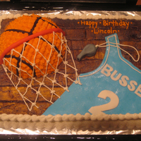 Basketball Cake WASC cake with buttercream
