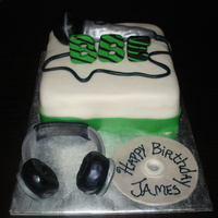 "My Mic Sounds Nice!!! I made for this cake for my daughter's uncle's 21st birthday. He's a aspiring artist and the name of his company is ""..."