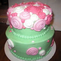 Swirly Cake Buttercream with fondant details