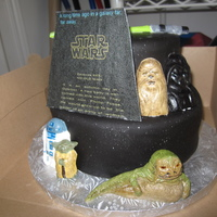 Star Wars 31St Birthday Cake I made this for my husband's 31st birthday. The crawl was made in power point and printed on edible image paper. Jabba was hand molded...