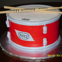 Drum Made for my son to look like the tom drum on the actual drum set we got him for his birthday! Everything edible! TFL!