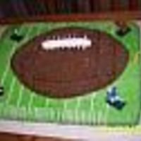 Football Fever I did this cake for my son's 2nd birthday. It was my first time working with fondant