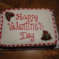Employee Valentines Day I used real strawberries for the decorations and piped in the leaves for the accents